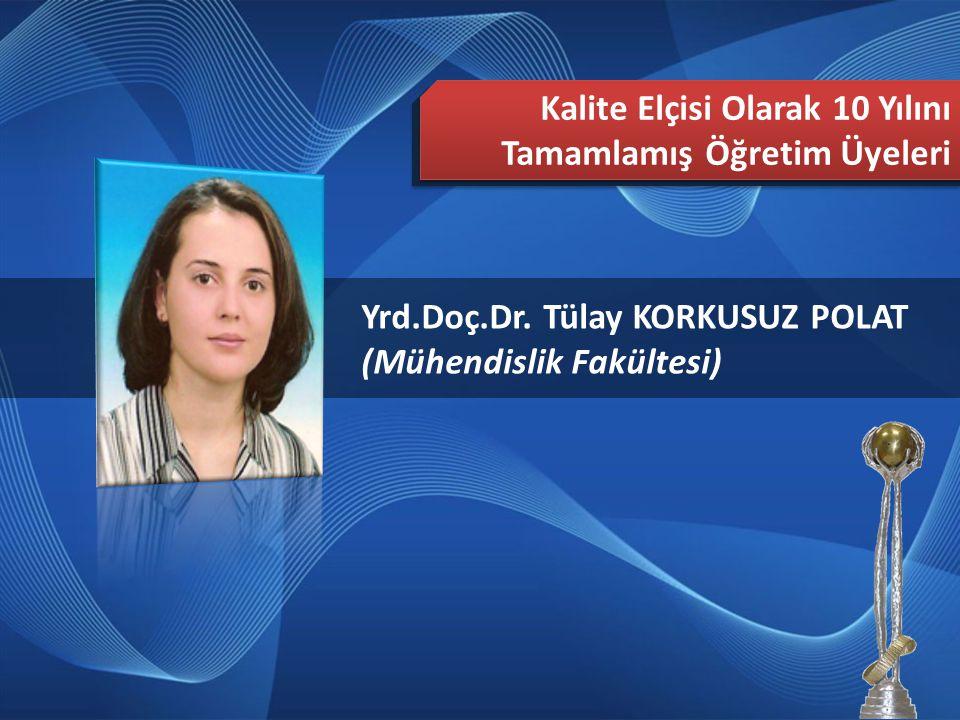 2013 Türkiye Mükemmellikte Süreklilik Ödülü Editör Ekibi Uzm. Gül ÜSTÜNEL (İşletme Fakültesi)