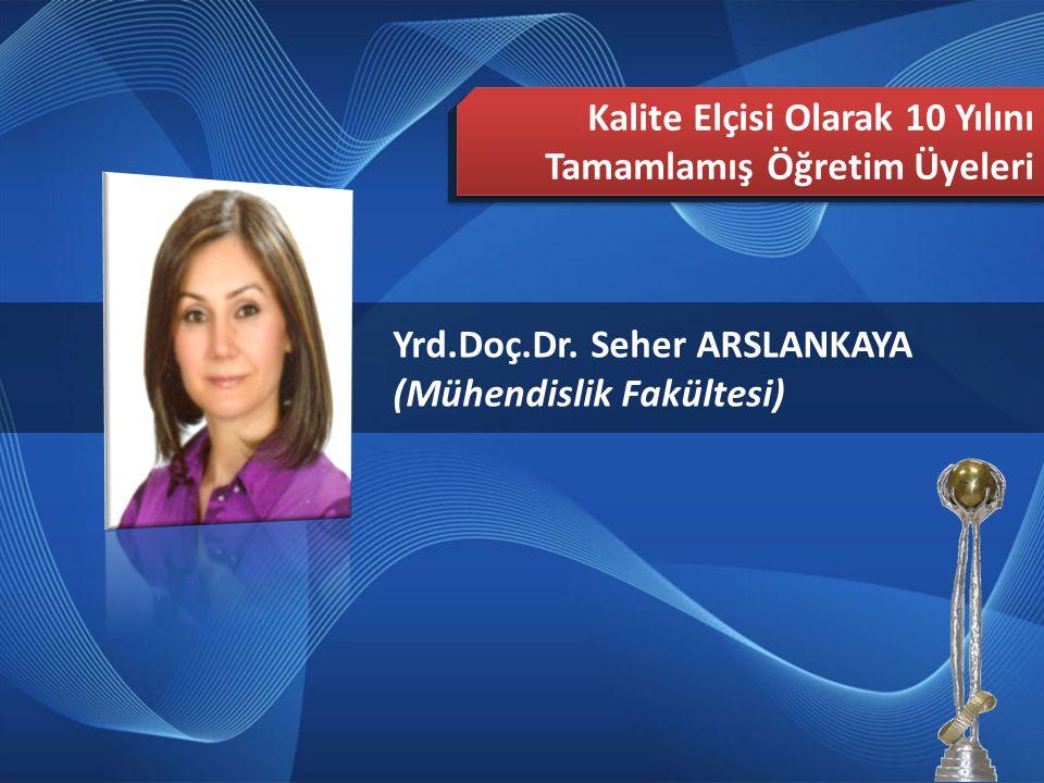2013 Türkiye Mükemmellikte Süreklilik Ödülü Yayılım Ekibi Yrd.Doç.Dr.