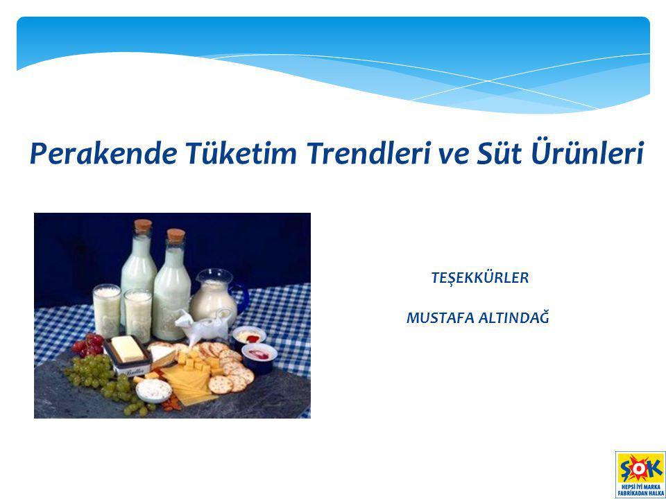 Perakende Tüketim Trendleri ve Süt Ürünleri TEŞEKKÜRLER MUSTAFA ALTINDAĞ