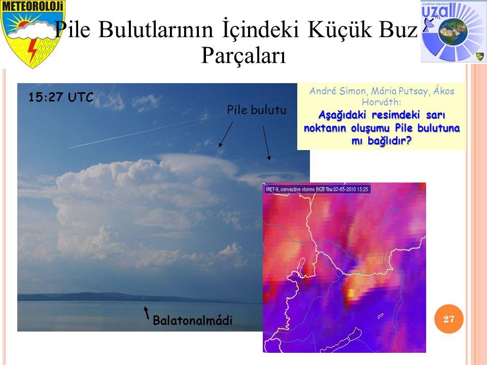 27 Pile Bulutlarının İçindeki Küçük Buz Parçaları Balatonalmádi Pile bulutu 15:27 UTC André Simon, Mária Putsay, Ákos Horváth: Aşağıdaki resimdeki sar