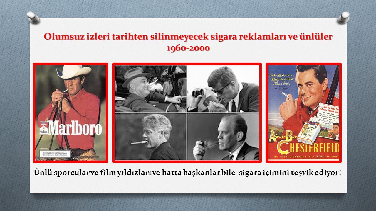 Ünlü sporcular ve film yıldızları ve hatta başkanlar bile sigara içimini teşvik ediyor! Olumsuz izleri tarihten silinmeyecek sigara reklamları ve ünlü