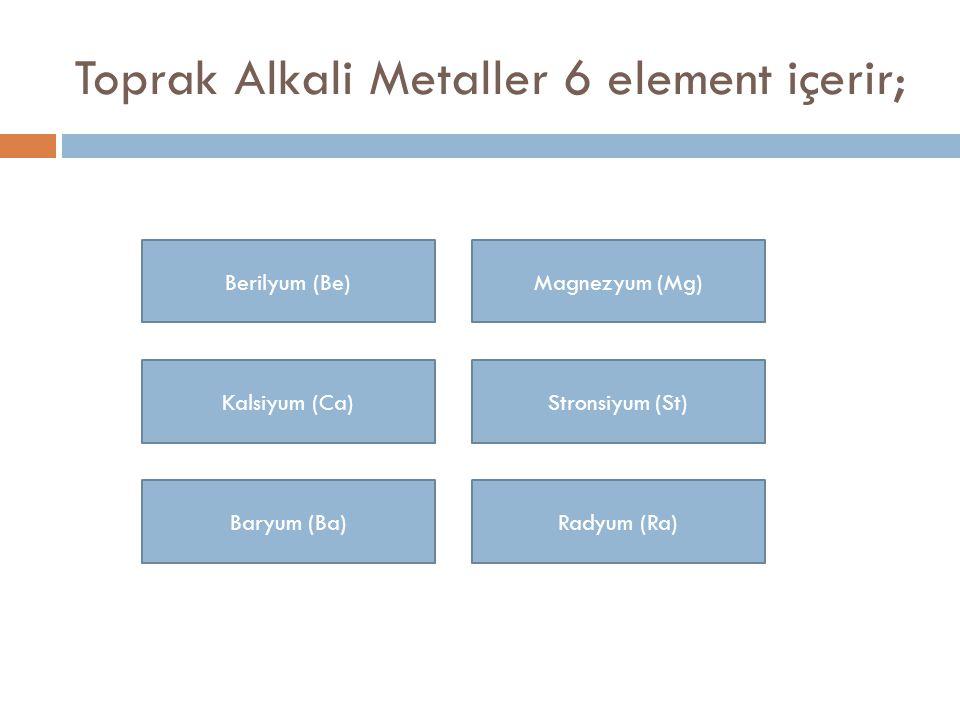Berilyum Berilyum, periyodik tablonun 2A grubunda yer alan toprak alkali grubundan elementtir.