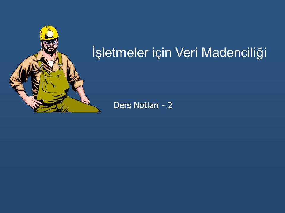 İşletmeler için Veri Madenciliği Ders Notları - 2