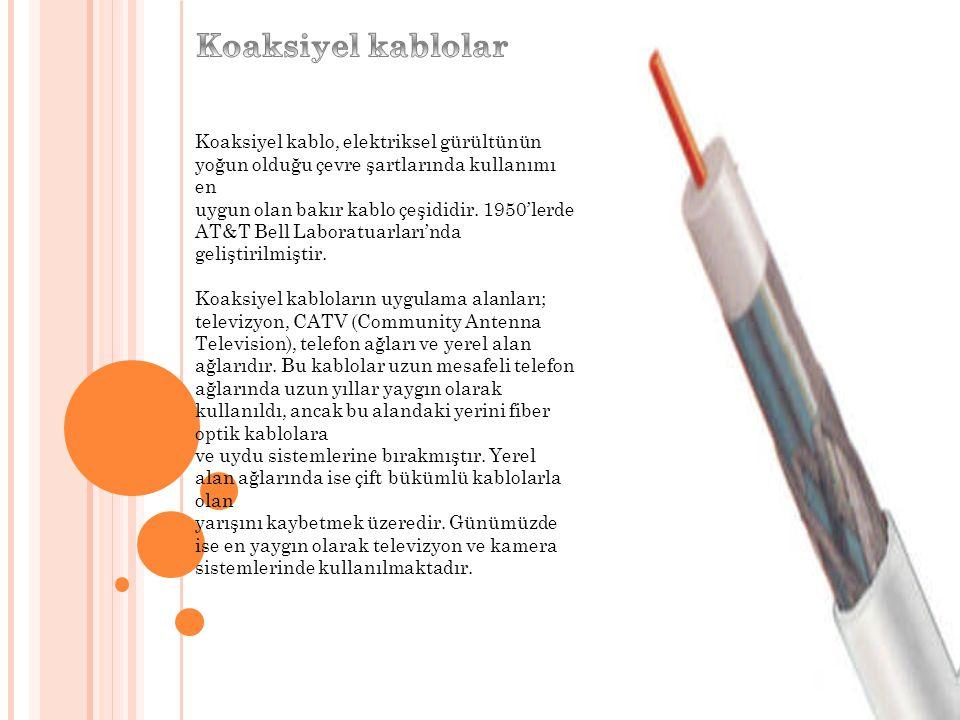 Koaksiyel kablolar, farklı sinyal türleriyle kullanılabilir.