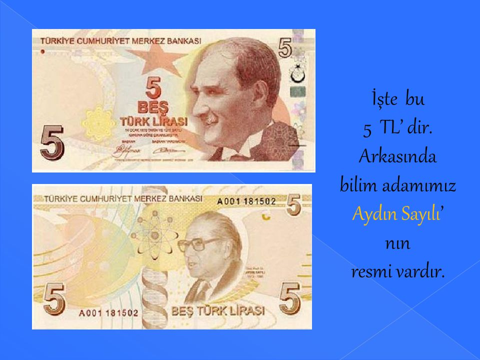 BANKNOTLARIMIZ ( KAĞIT PARA ) VE RENKLERİ 5TL'lik banknotun rengi kahverengidir, 10 TL'lik banknotun rengi kırmızıdır, 20 TL'lik banknotun rengi yeşil