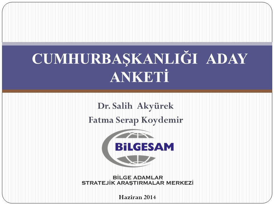 CUMHURBAŞKANLIĞI ADAY ANKETİ Dr. Salih Akyürek Fatma Serap Koydemir Haziran 2014