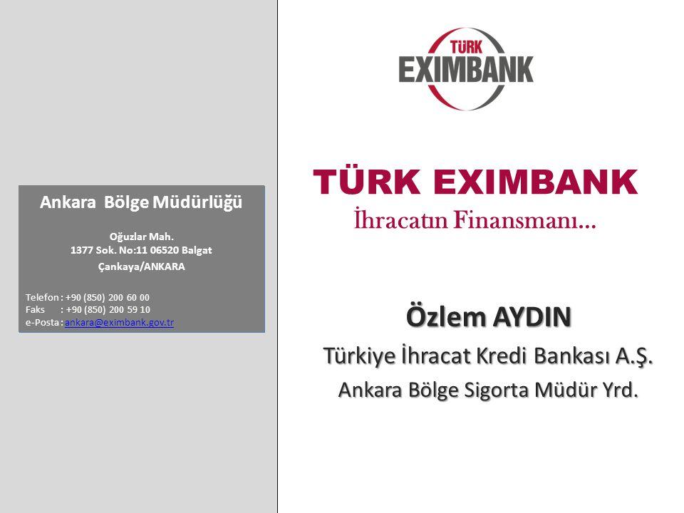 TÜRK EXIMBANK İ hracatın Finansmanı… Ankara Bölge Müdürlüğü Oğuzlar Mah.