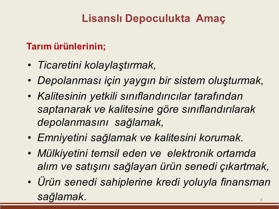 15 www.tokay.com.tr FAALİYET İZNİ (LİSANS) ALAN ŞİRKETLER ŞİRKET ADIMERKEZİHUBUBATPAMUKZEYTİN TMO-TOBB Ankara 90.000-- YAYLA Mersin 20.000 TİRYAKİ Gaziantep 70.000 GK Kırıkkale 40.000 Kainat Konya 30.000 EGE İzmir 15.000 TOPLAM250.00015.000 6 ŞİRKET GENEL TOPLAM 265.000 TON