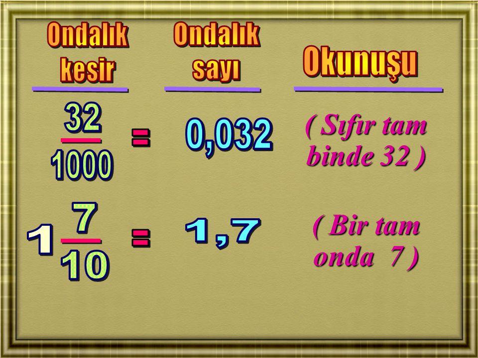 ( Üç tam yüzde 54 ) ( Beş tam binde 612 )