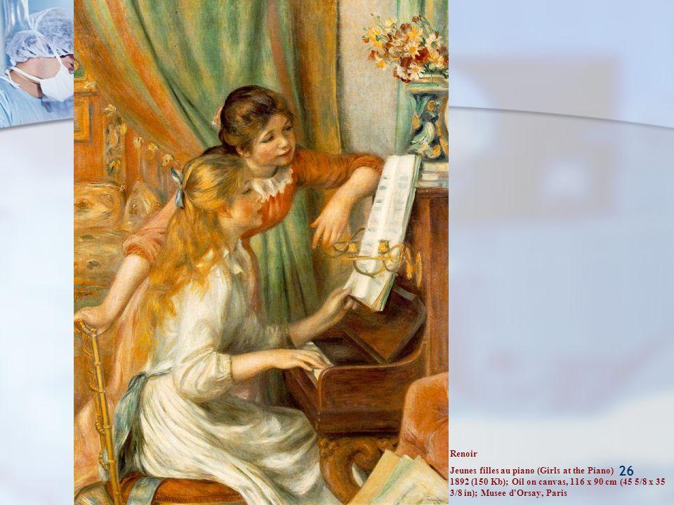 Pankreasın Nöroendokrin Tümörleri 26 Renoir Jeunes filles au piano (Girls at the Piano) 1892 (150 Kb); Oil on canvas, 116 x 90 cm (45 5/8 x 35 3/8 in)