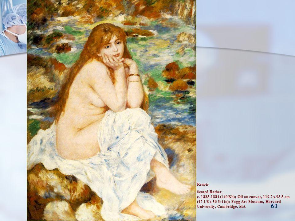Pankreasın Nöroendokrin Tümörleri 63 Renoir Seated Bather c. 1883-1884 (140 Kb); Oil on canvas, 119.7 x 93.5 cm (47 1/8 x 36 3/4 in); Fogg Art Museum,