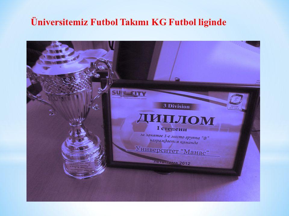 Üniversitemiz Futbol Takımı KG Futbol liginde