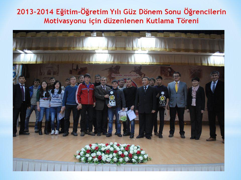 2013-2014 Eğitim-Öğretim Yılı Güz Dönem Sonu Öğrencilerin Motivasyonu için düzenlenen Kutlama Töreni