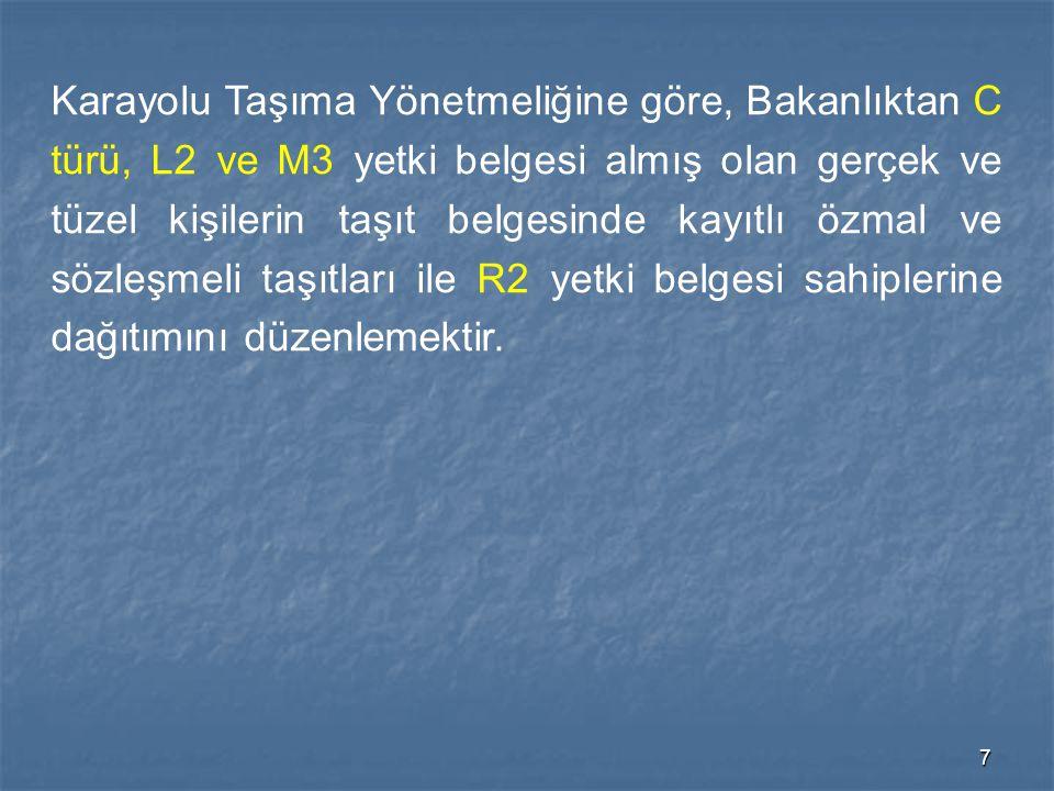48 Güzergahlar, yükleme ve boşaltma noktaları ile bunların transit ve bağlantı yolları MADDE 4- Yabancı plakalı karayolu taşıtları ile yabancı malı Türkiye'den transit olarak geçiren Türk plakalı taşıtların takip edecekleri transit ve bağlantı yolları ile yükleme ve boşaltma noktaları: Maliye ve Gümrük Bakanlığı'nca Genelkurmay Başkanlığı, İçişleri, Ulaştırma, Bayındırlık ve İskan Bakanlıklarının olumlu görüşü alınarak tespit edilir ve Resmi Gazetede yayımlanır.