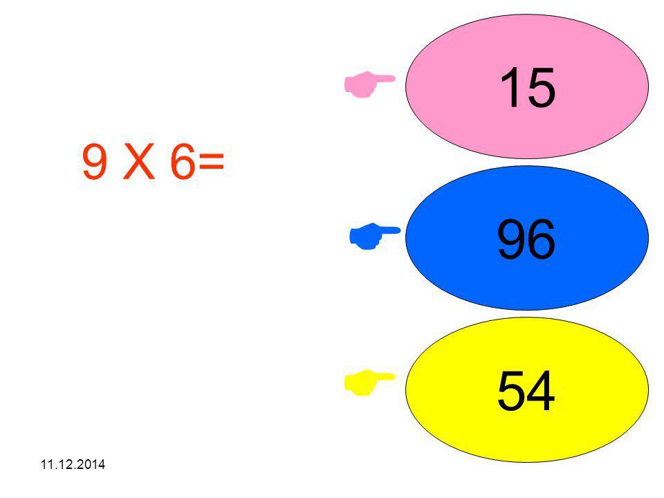 11.12.2014    36 12 66 6 X 6= işleminin sonucunu seçiniz.