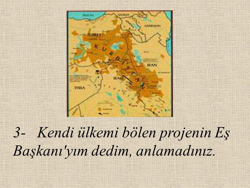 5- Türkiye yi katmerli bir borcun altına soktum, toprakları sattım, anlamadınız.