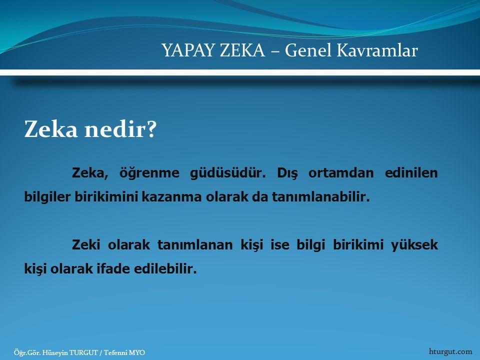 Zeka nedir? Zeka, öğrenme güdüsüdür. Dış ortamdan edinilen bilgiler birikimini kazanma olarak da tanımlanabilir. Zeki olarak tanımlanan kişi ise bilgi