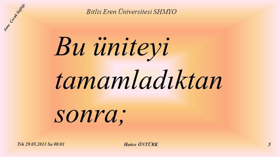 Menenjit Bitlis Eren Üniversitesi SHMYO Hatice ÖNTÜRK Trh 29.05.2013 Sa 00:01 56 Anne Çocuk Sağlığı