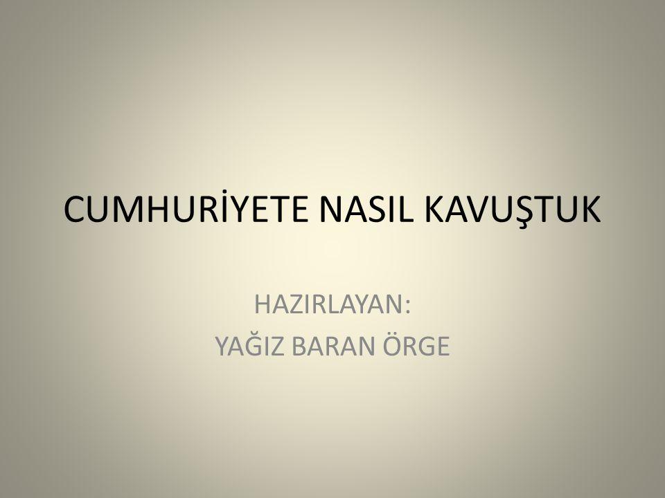 22 Haziran 1919 Amasya Genelgesi 19 Mayıs 1919 Atatürk'ün Samsun'a çıkışı 23 temmuz 1919 Erzurum Kongresi 4 Eylül 1919 Sivas kongresi 23 Nisan 1920 TBMM Açıldı 10 Ocak 1920 1.
