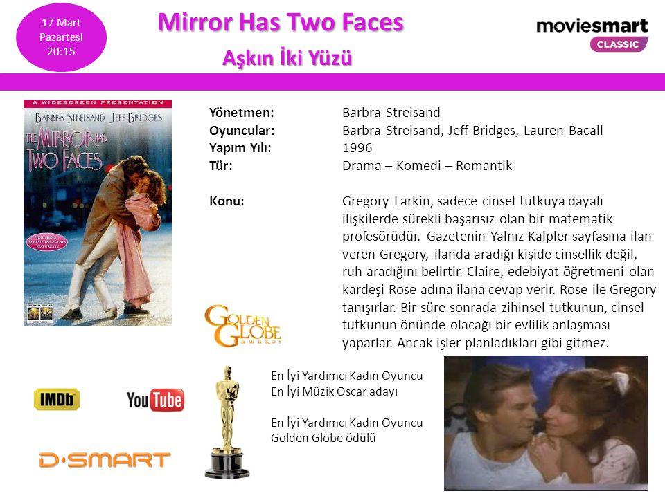 Mirror Has Two Faces Mirror Has Two Faces Aşkın İki Yüzü Aşkın İki Yüzü Yönetmen: Barbra Streisand Oyuncular: Barbra Streisand, Jeff Bridges, Lauren B