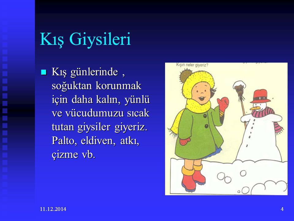11.12.20143 Kış Mevsiminin Özellikleri Kış gelince havalar soğur,yağmur ve kar yağar, saçaklar buz tutar. Kış gelince havalar soğur,yağmur ve kar yağa