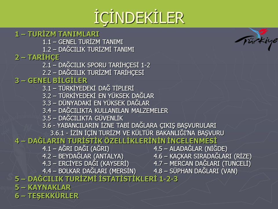 ALADAĞLAR - NİĞDE ► Kayseri - Niğde - Adana illeri arasında bulunan Aladağlar, bitki örtüsü (flora) ve hayvan çeşitleri (fauna) bakımından zengin bir çeşitliliğe sahiptir, bu nedenle dağın 54.524 hektarlık bir bölümü 1995 yılında Milli Park ilan edilmiştir.