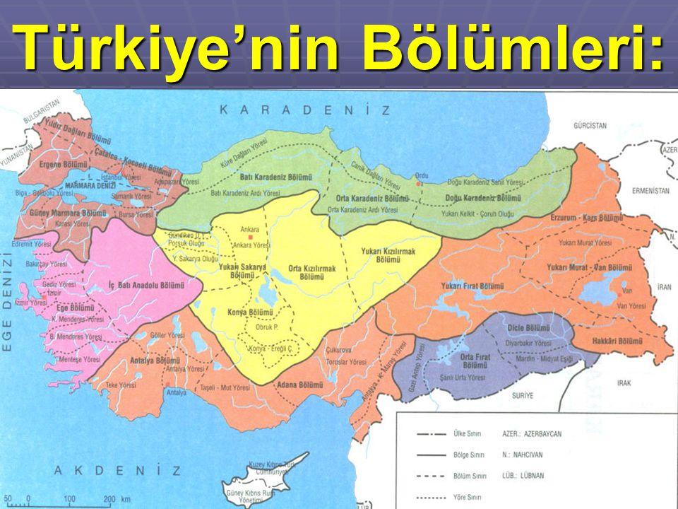 Türkiye'nin Bölümleri: