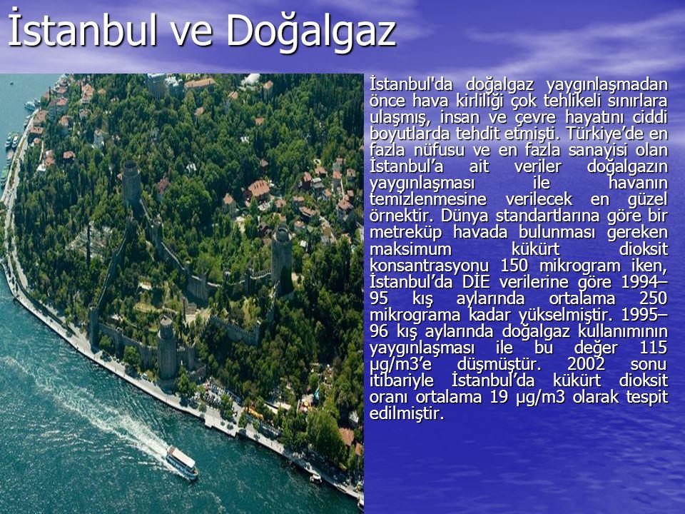 İstanbul ve Doğalgaz İstanbul'da doğalgaz yaygınlaşmadan önce hava kirliliği çok tehlikeli sınırlara ulaşmış, insan ve çevre hayatını ciddi boyutlarda