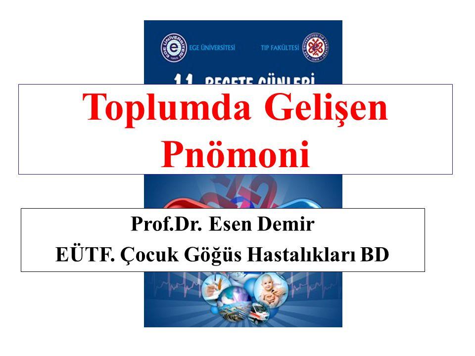 Toplumda Gelişen Pnömoni Prof.Dr. Esen Demir EÜTF. Çocuk Göğüs Hastalıkları BD