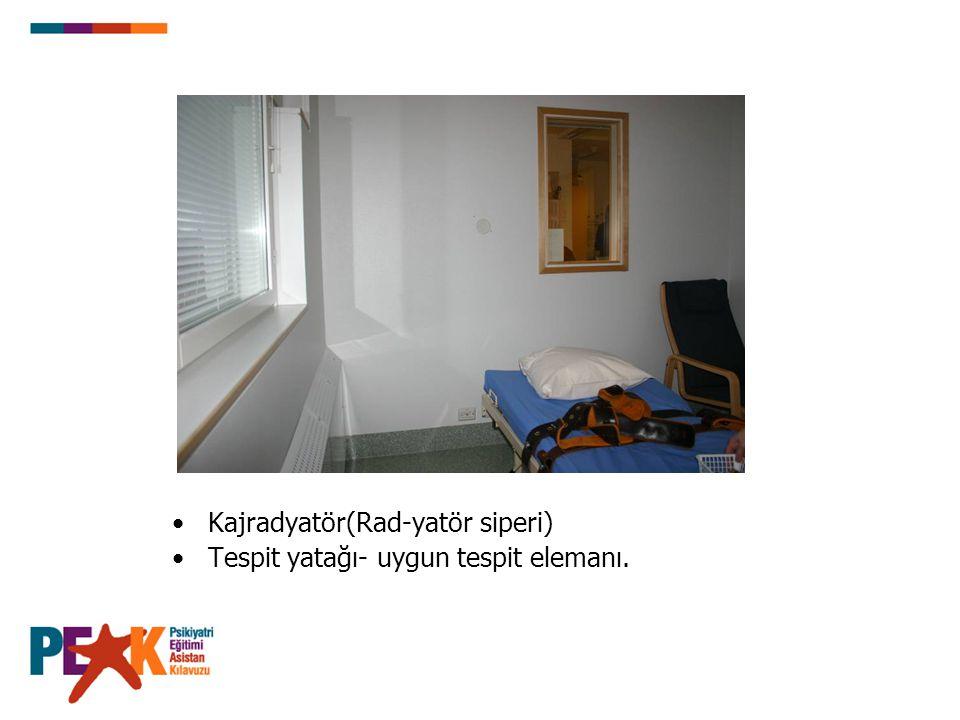 Kajradyatör(Rad-yatör siperi) Tespit yatağı- uygun tespit elemanı.