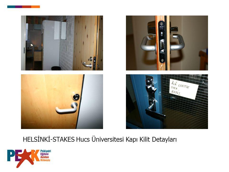 HELSİNKİ-STAKES Hucs Üniversitesi Kapı Kilit Detayları