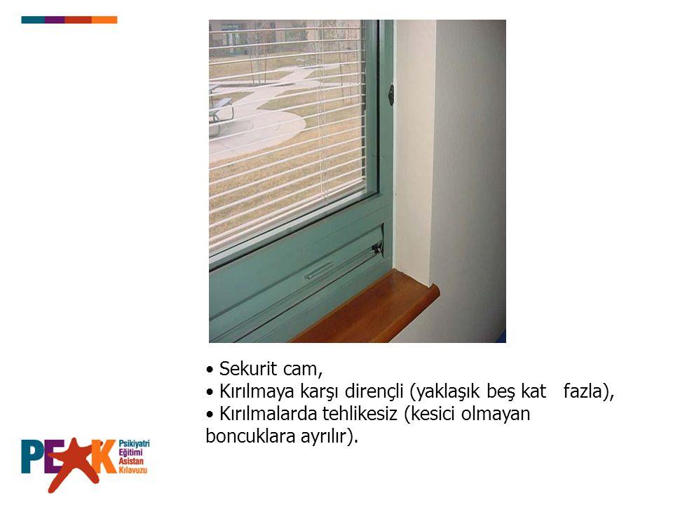 Sekurit cam, Kırılmaya karşı dirençli (yaklaşık beş kat fazla), Kırılmalarda tehlikesiz (kesici olmayan boncuklara ayrılır).