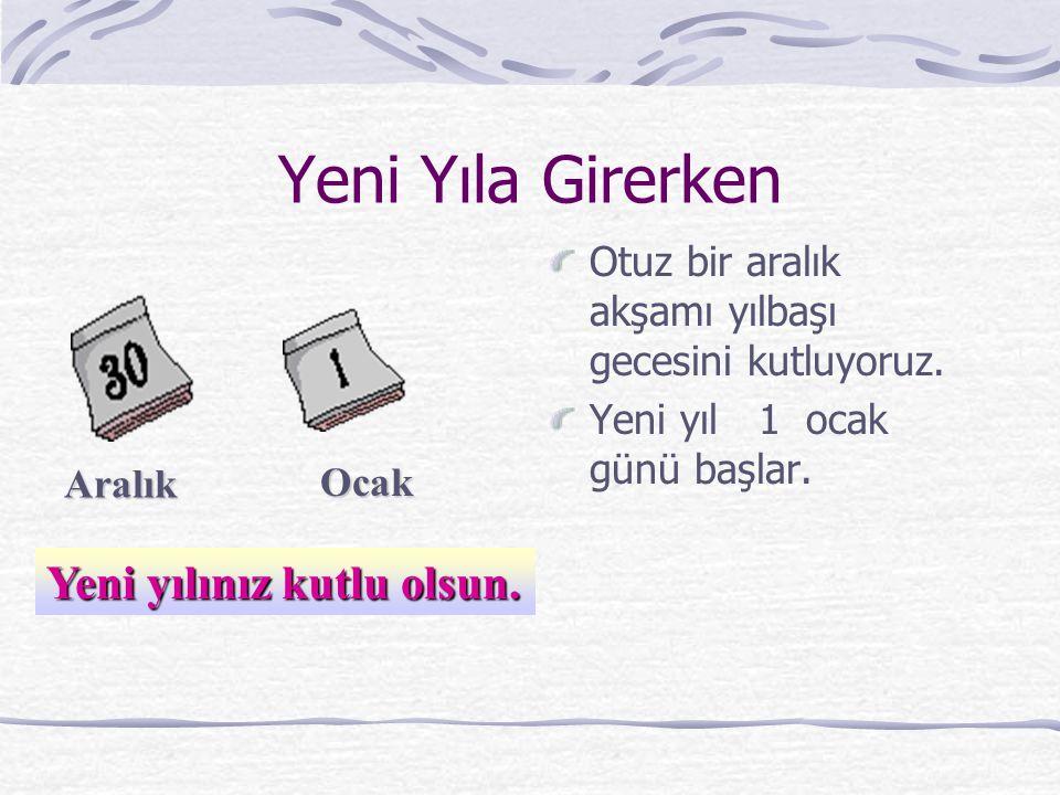 Yılın Bölümleri Hazırlayan Meryem KÖKÇÜ 1 – C Sınıf Öğretmeni Sarayköy Gazi İlköğretim Okulu