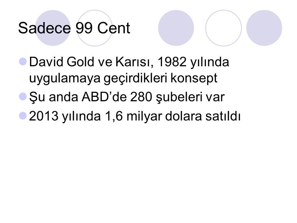 Sadece 99 Cent David Gold ve Karısı, 1982 yılında uygulamaya geçirdikleri konsept Şu anda ABD'de 280 şubeleri var 2013 yılında 1,6 milyar dolara satıl