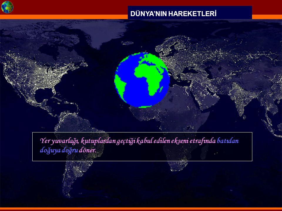DÜNYA'NIN HAREKETLERİ 4 Temmuz 3 Ocak Dünya, 3 Ocak ta Güneş e en yakın konumda bulunmaktadır.