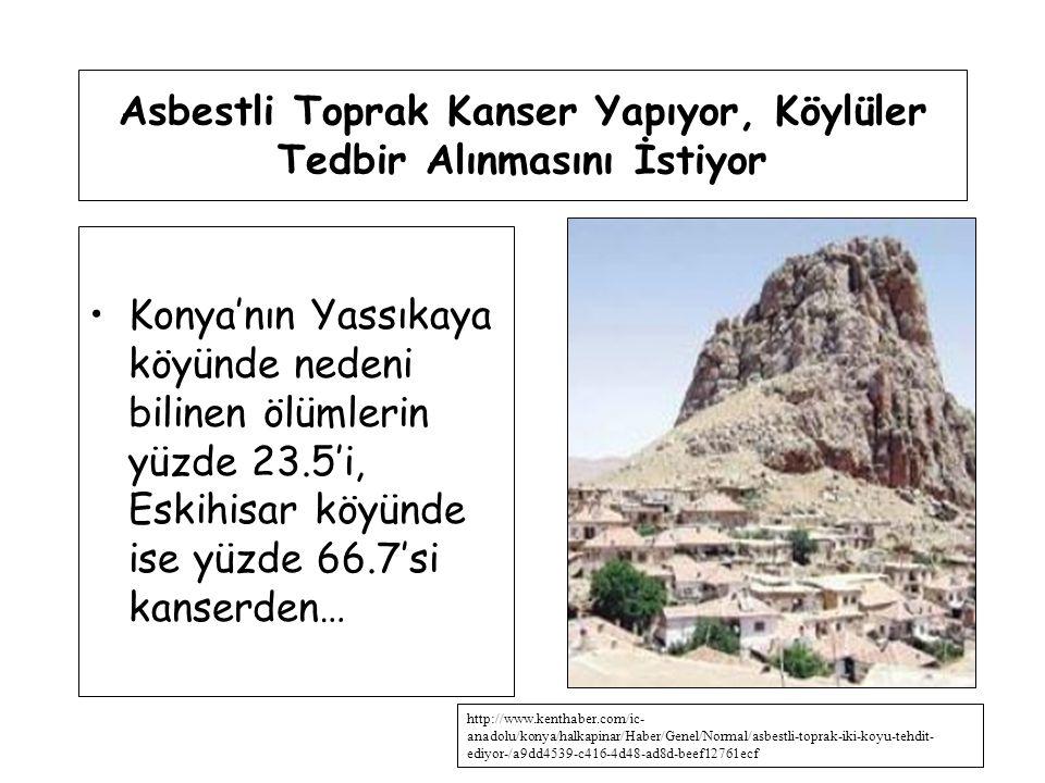 Asbestli Toprak Kanser Yapıyor, Köylüler Tedbir Alınmasını İstiyor Konya'nın Yassıkaya köyünde nedeni bilinen ölümlerin yüzde 23.5'i, Eskihisar köyünd