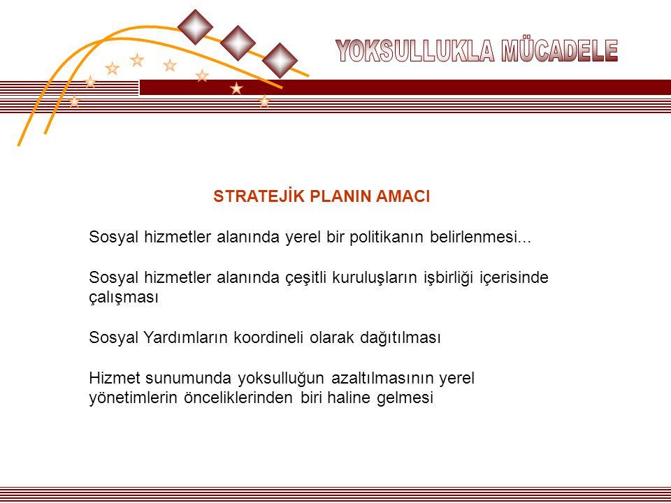 STRATEJİK PLANIN AMACI Sosyal hizmetler alanında yerel bir politikanın belirlenmesi... Sosyal hizmetler alanında çeşitli kuruluşların işbirliği içeris