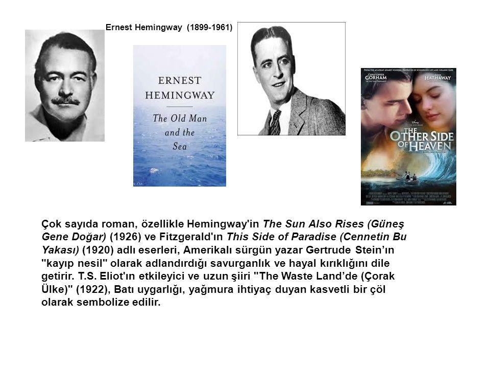 Çok sayıda roman, özellikle Hemingway'in The Sun Also Rises (Güneş Gene Doğar) (1926) ve Fitzgerald'ın This Side of Paradise (Cennetin Bu Yakası) (192