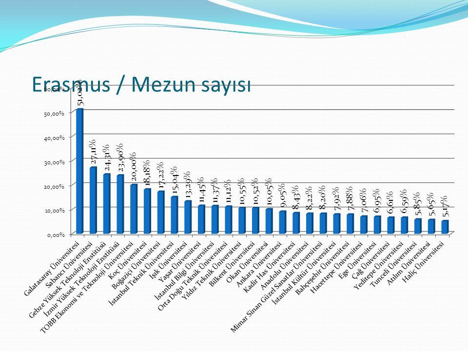 Erasmus / Mezun sayısı