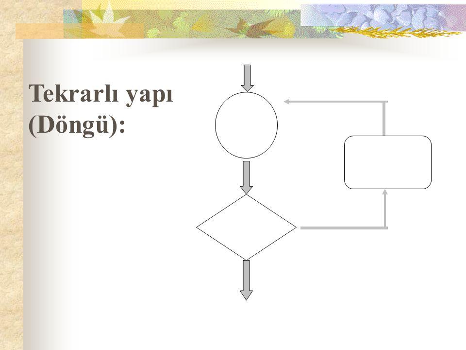 Tekrarlı yapı (Döngü):