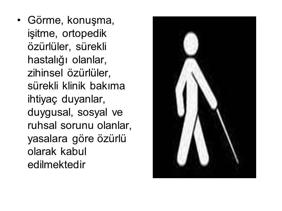 *Sakatlık durumunun ifadesi için özürlü, engelli ve sakat kelimelerinden her biri farklı şekillerde kullanılmaktadır.