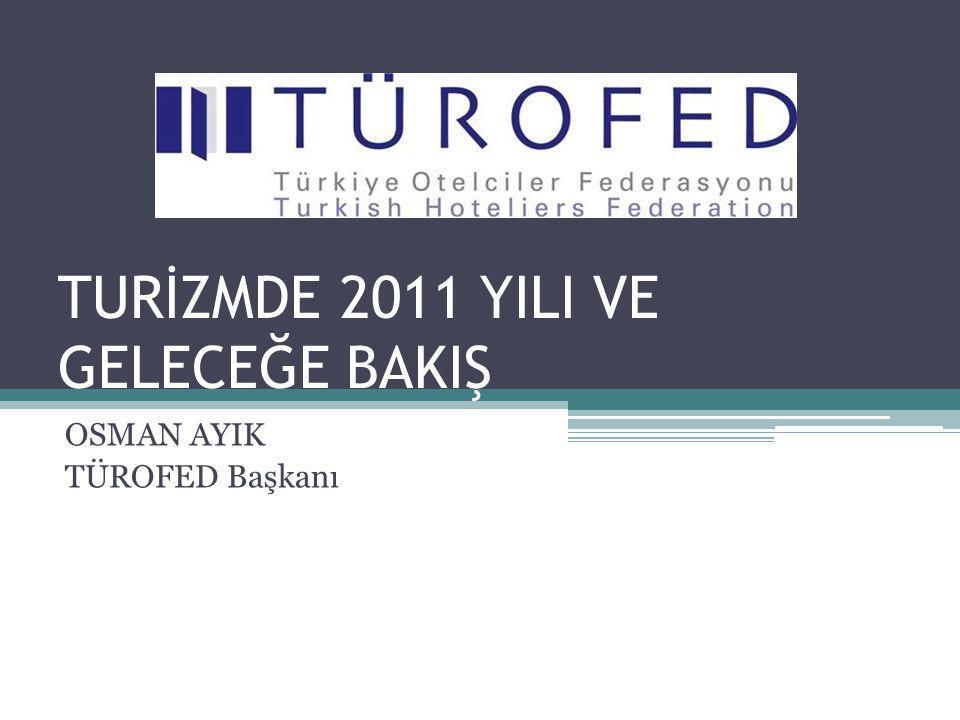 TURİZMDE 2011 YILI VE GELECEĞE BAKIŞ OSMAN AYIK TÜROFED Başkanı