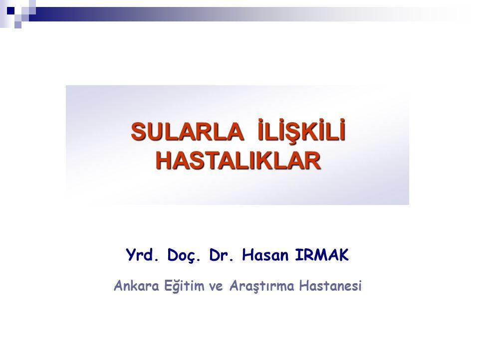 SULARLA İLİŞKİLİ HASTALIKLAR Yrd. Doç. Dr. Hasan IRMAK Ankara Eğitim ve Araştırma Hastanesi
