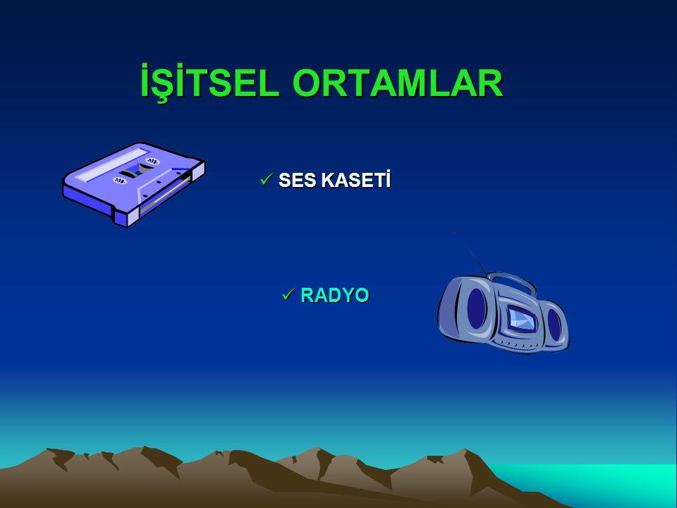 İŞİTSEL ORTAMLAR SES KASETİ SES KASETİ RADYO RADYO