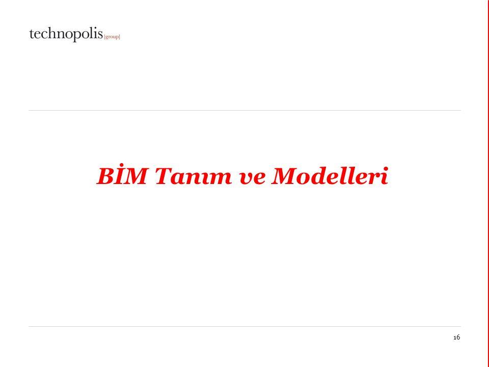 11 décembre 201416 BİM Tanım ve Modelleri