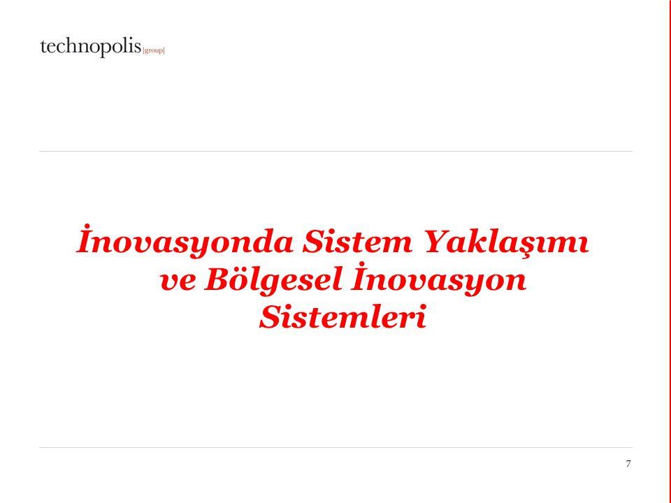 11 décembre 20147 İnovasyonda Sistem Yaklaşımı ve Bölgesel İnovasyon Sistemleri