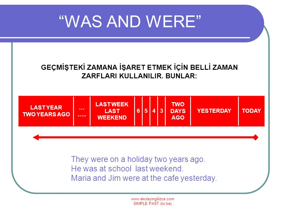 www.ekolayingilizce.com SIMPLE PAST (to be) WAS & WERE VERİLEN SORULARI CEVAPLAYIN What was the date yesterday.