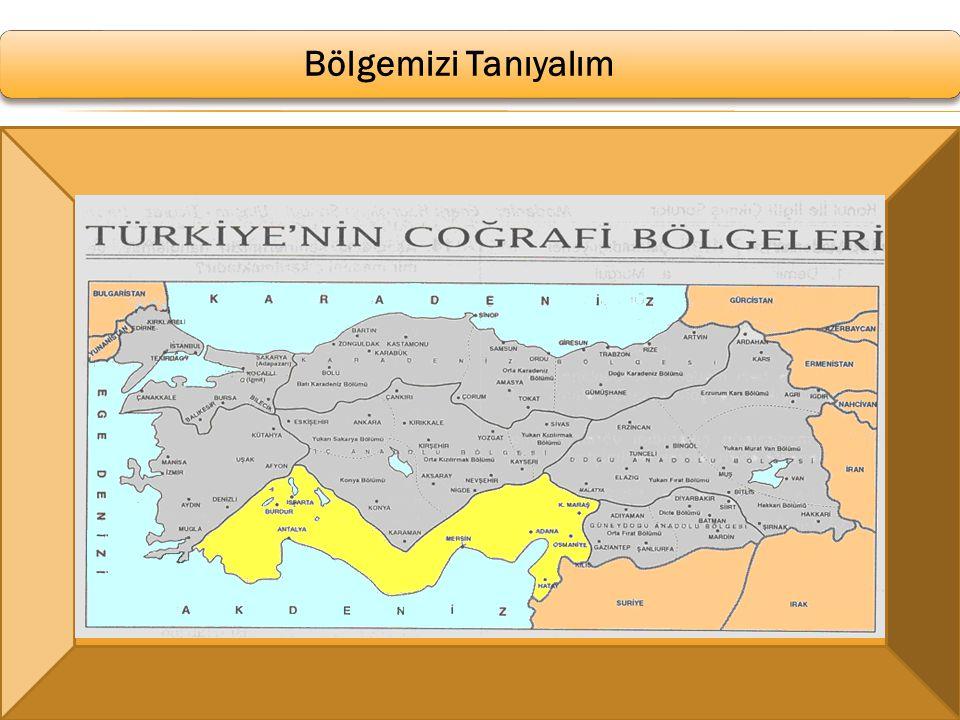 Akdeniz Bölgesi Bölge adını komşu olduğu Akdeniz'den alır.