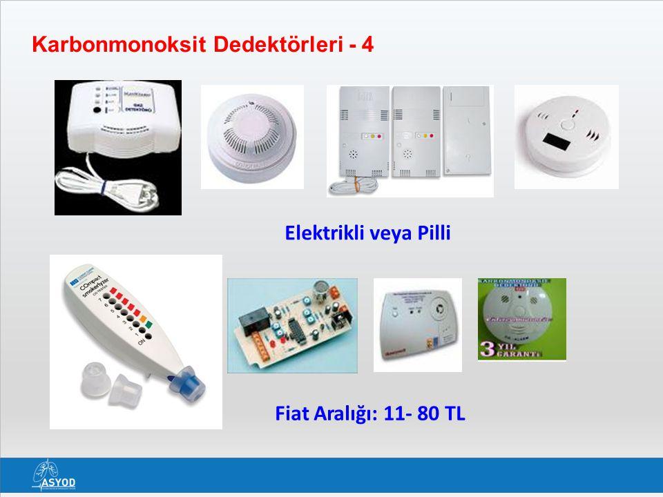 Karbonmonoksit Dedektörleri - 4 Elektrikli veya Pilli Fiat Aralığı: 11- 80 TL