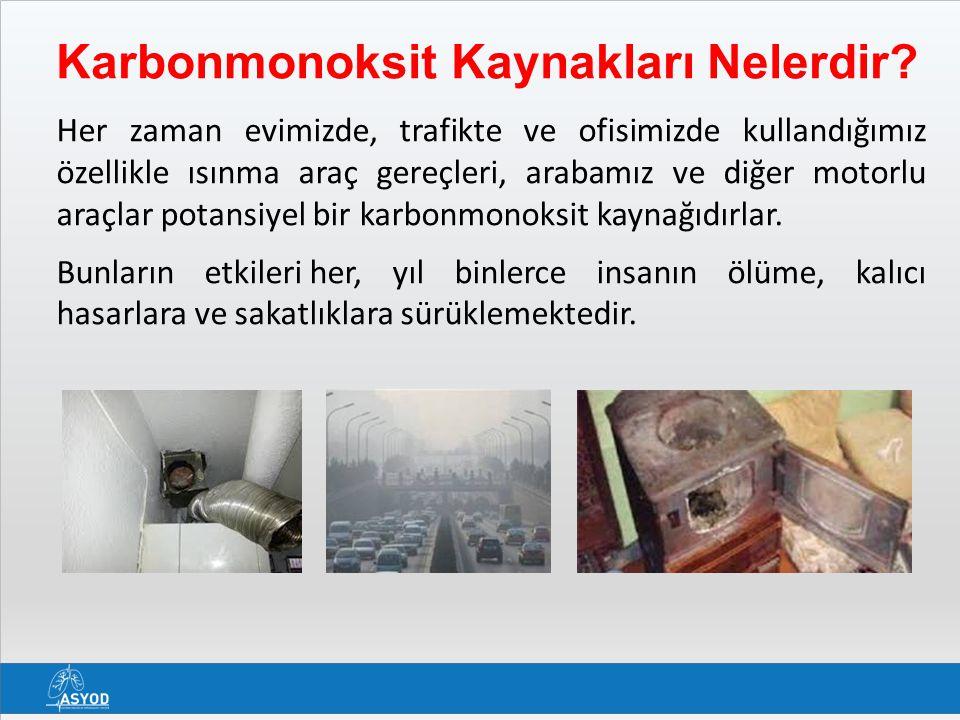 Karbonmonoksit Dedektörleri - 1 Ortamdaki karbon monoksit konsantrasyonu 50 ppm in üzerine çıktığında insan sağlığı için tehlike arz etmekte, 100 ppm'in üzerine çıktığında kişileri komaya sokacak kadar etkili olmaktadır.